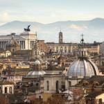 Vue des toits de Rome
