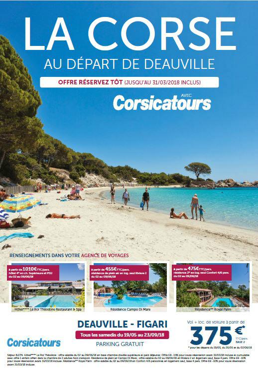 La Corse au départ de Deauville-Normandie